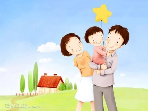16001200--childrens-illustration-of-mother-day-and-family-love-16801050--childrens-illustration-of-sweet-family-on-mothers-day-98757